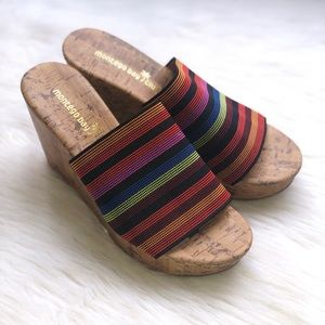 Rainbow Montego Bay Club Cork Wedges